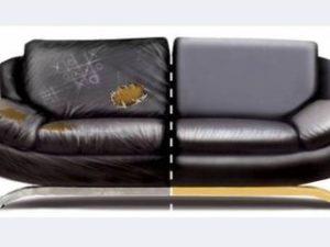 Перетяжка кожаного дивана в Брянске