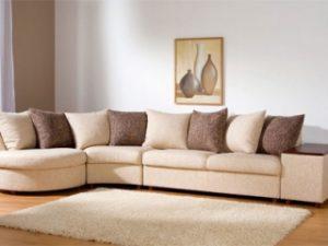 Перетяжка углового дивана на дому в Химках